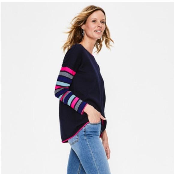 Boden NWT berwick sweater Navy stripe sz XL NWT